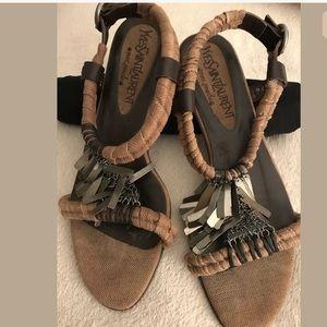 Yves Saint Laurent Flat Sandals